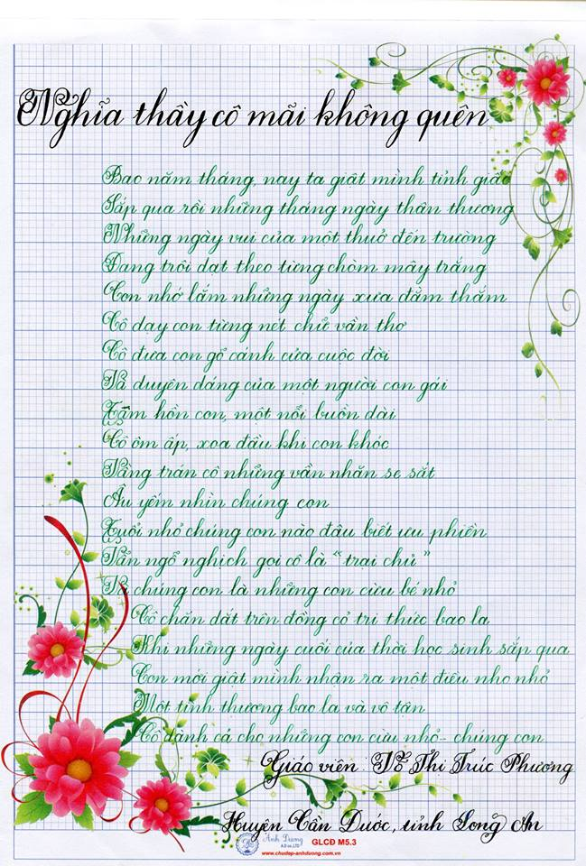 1 - Bộ sưu tập các bài thi viết chữ đẹp