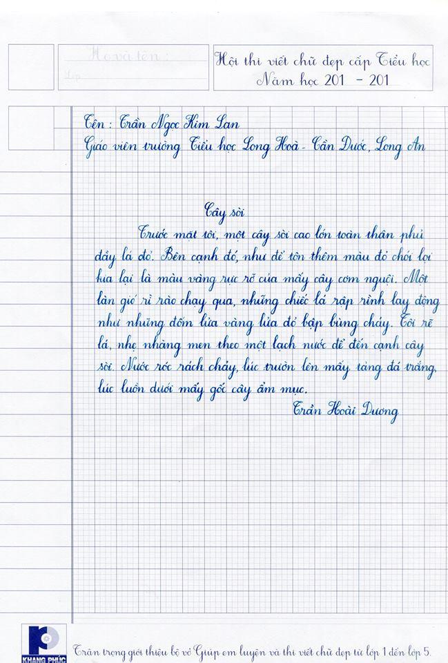 15181282 1778452428961645 6145379933632235974 n - Bộ sưu tập các bài thi viết chữ đẹp
