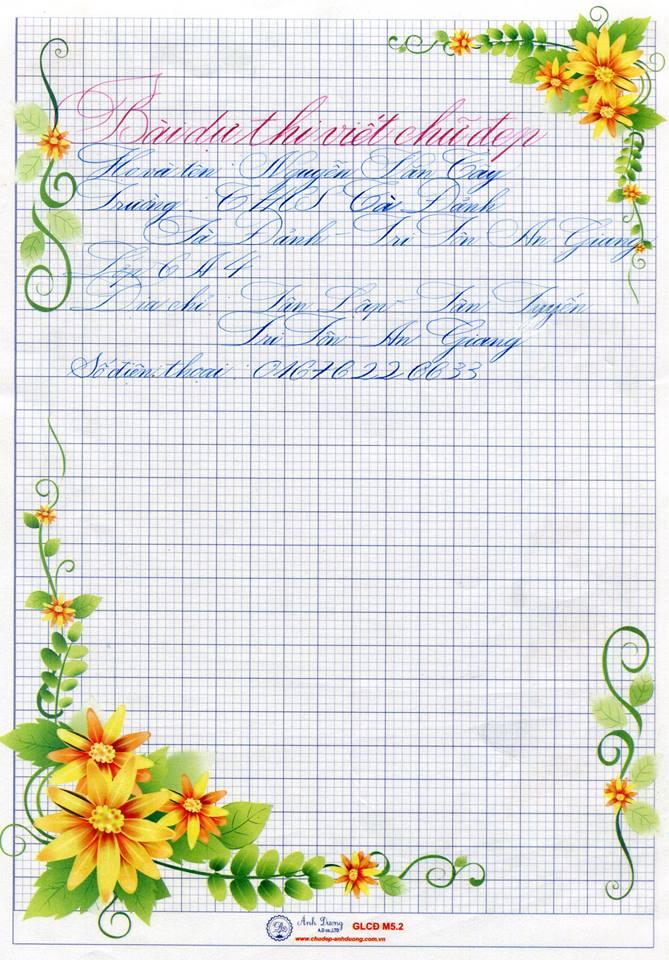 15285095 1809408399199381 9214428062283100033 n - Bộ sưu tập các bài thi viết chữ đẹp