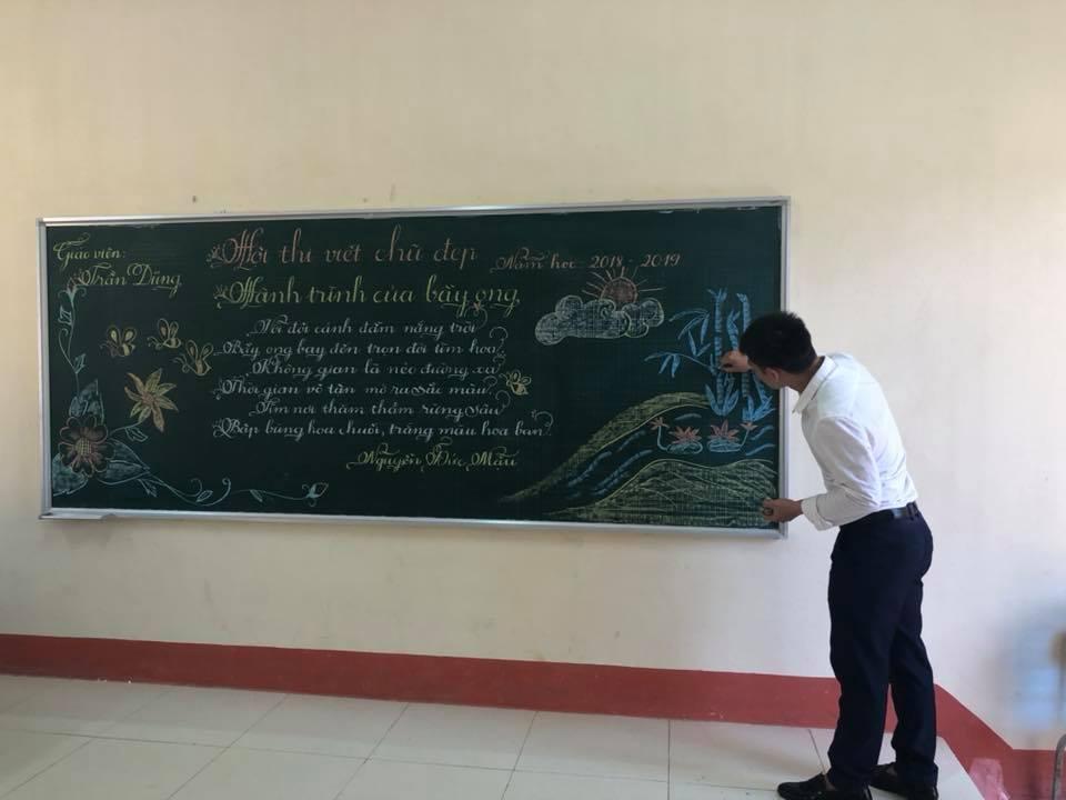 cach viet chu dep 4 - Cách viết chữ đẹp trên bảng không phải thầy cô nào cũng biết