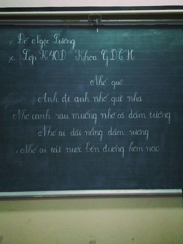 kỹ năng viết bảng