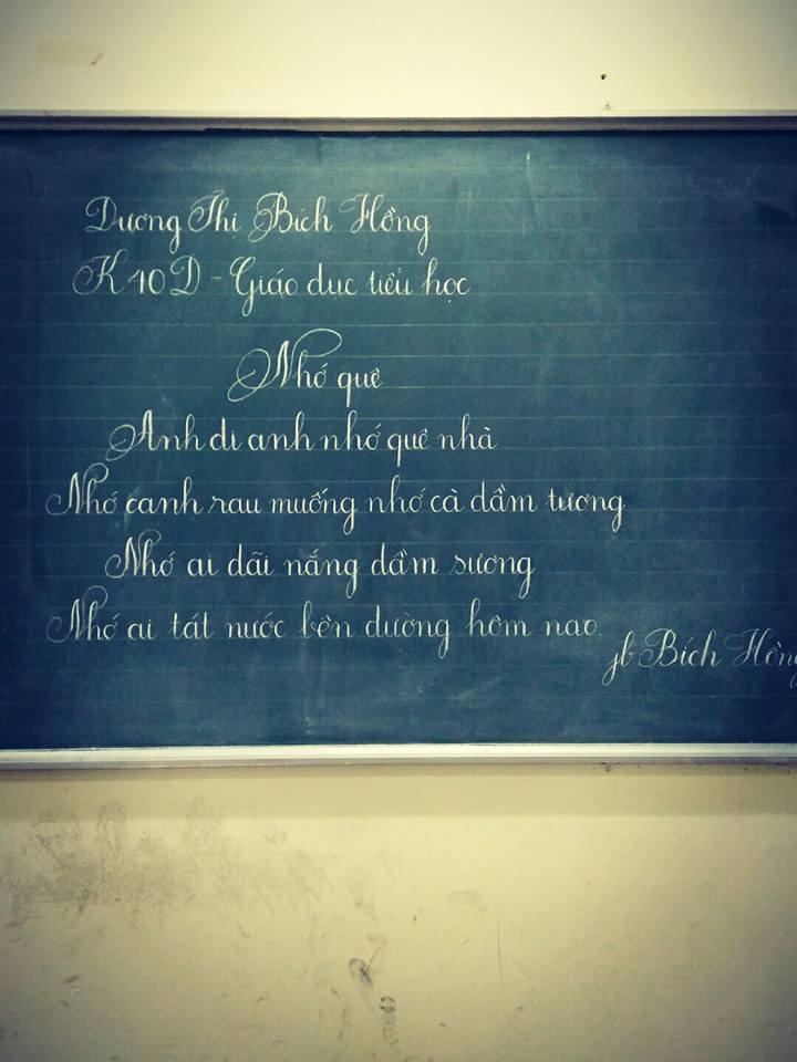 ky nang viet bang 3 - Kỹ năng luyện viết bảng đẹp dành cho học viên và giáo viên