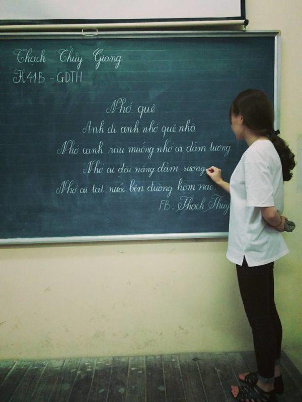ky nang viet bang 6 600x800 - Kỹ năng luyện viết bảng đẹp dành cho học viên và giáo viên