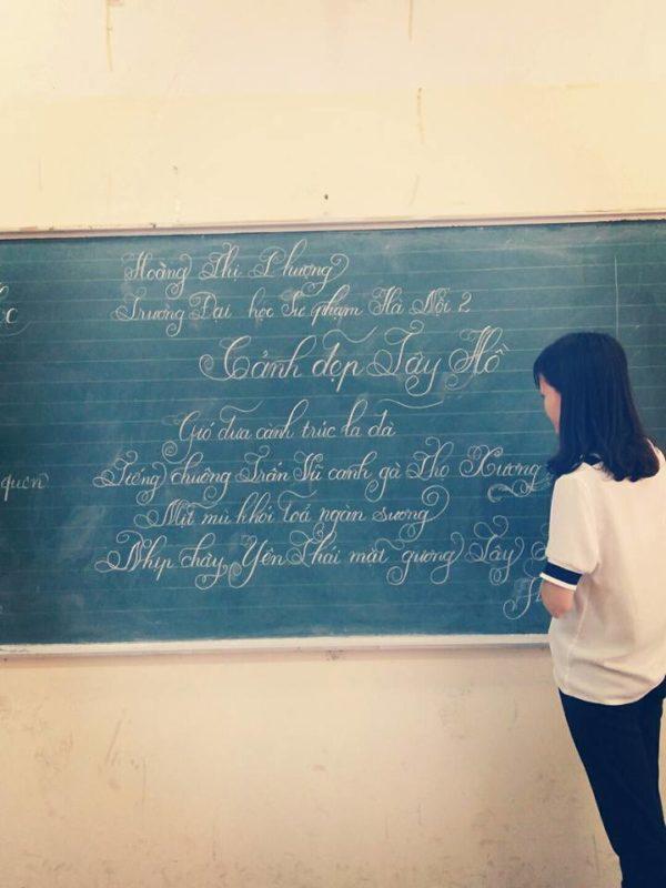 ky nang viet bang 9 600x800 - Kỹ năng luyện viết bảng đẹp dành cho học viên và giáo viên