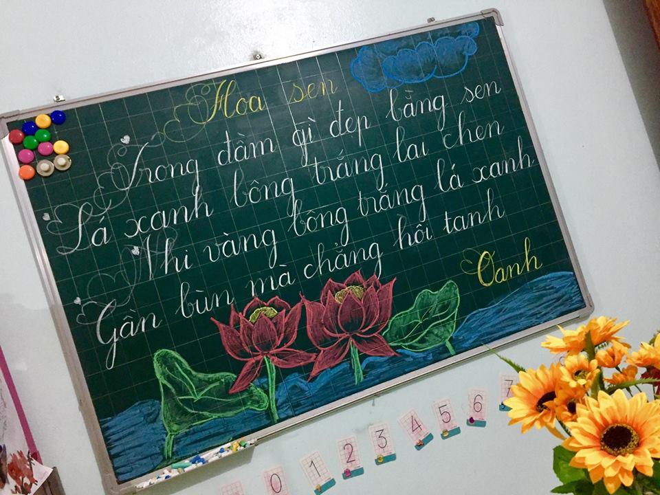 luyen viet bang 1 - Kỹ năng luyện viết bảng đẹp dành cho học viên và giáo viên