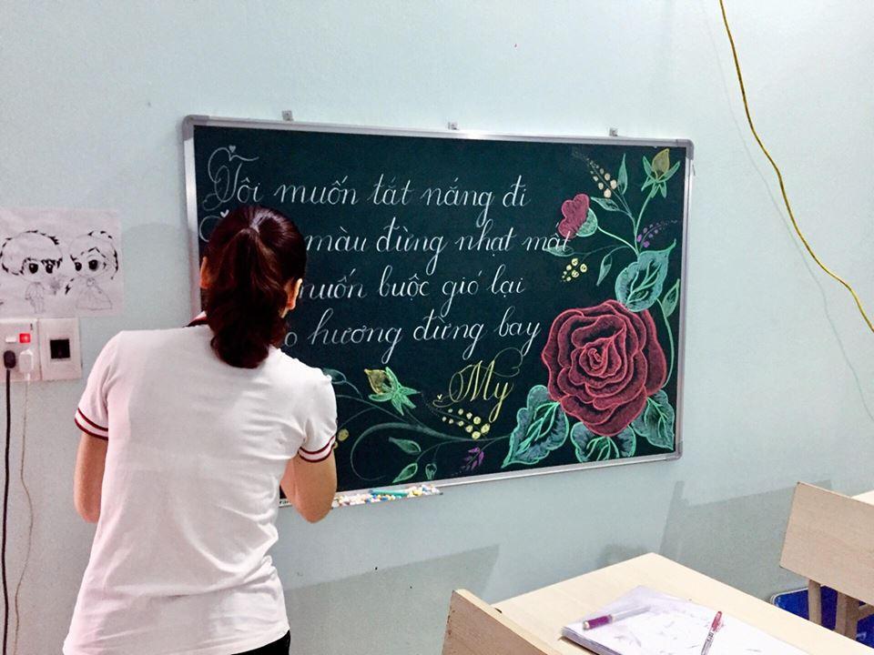 luyen viet bang 5 - Kỹ năng luyện viết bảng đẹp dành cho học viên và giáo viên