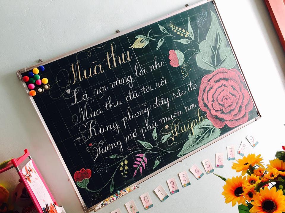 luyen viet bang 6 - Kỹ năng luyện viết bảng đẹp dành cho học viên và giáo viên