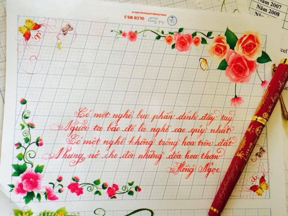 luyen viet chu dep 3 - Luyện viết chữ đẹp không bao giờ lỗi thời dù ở trong thời đại nào