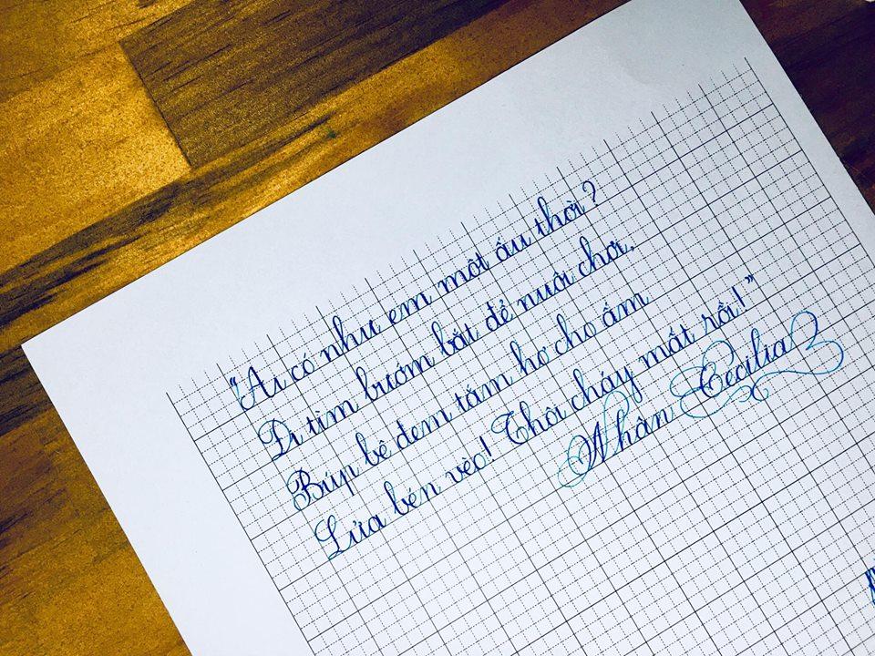 cac kieu chu dep 5 - Ngỡ ngàng trước các kiểu chữ đẹp hoàn hảo được viết bằng tay