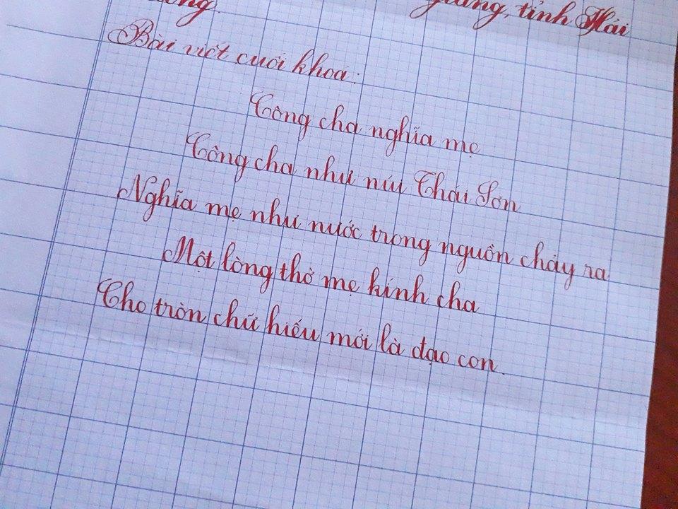 ren chu viet dep 3 - Tại sao bố mẹ nên rèn chữ viết đẹp cho con khi học cấp 1